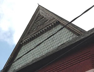 THT south gable before renovations
