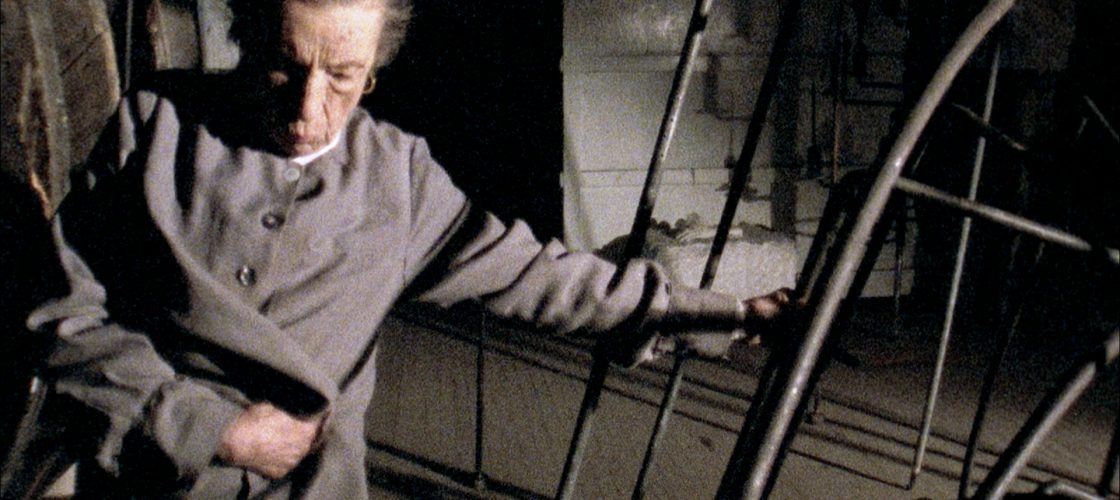 Artist Louise Bourgeois as seen in the documentary film Louise Bourgeois The Spider, The Mistress and The Tangerine. Photo credit:  Art Kaleidoscope Foundation.
